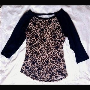 Cheetah Print Scoop Neck top